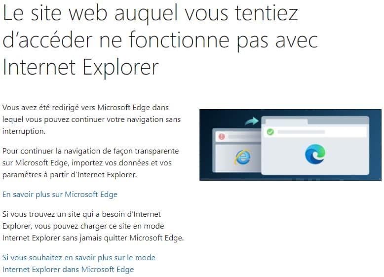 Internet Explorer fonctionne pas