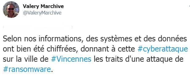 Vincennes Marchive ransomware