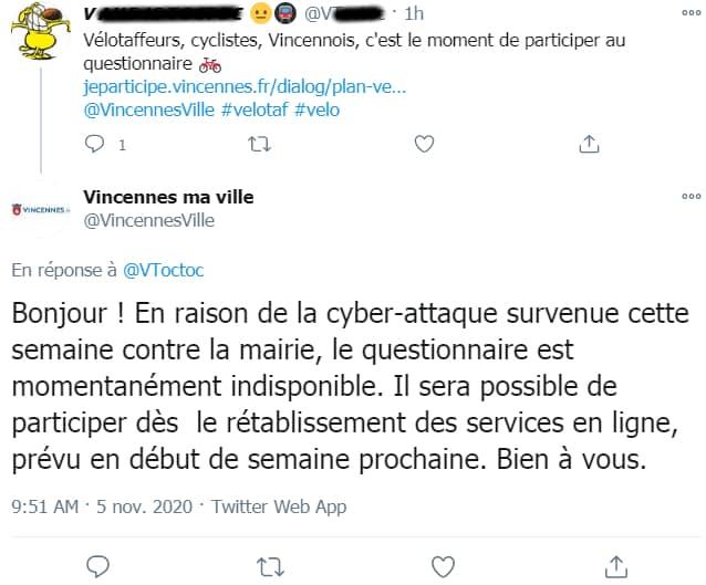 Vincennes questionnaire vélo