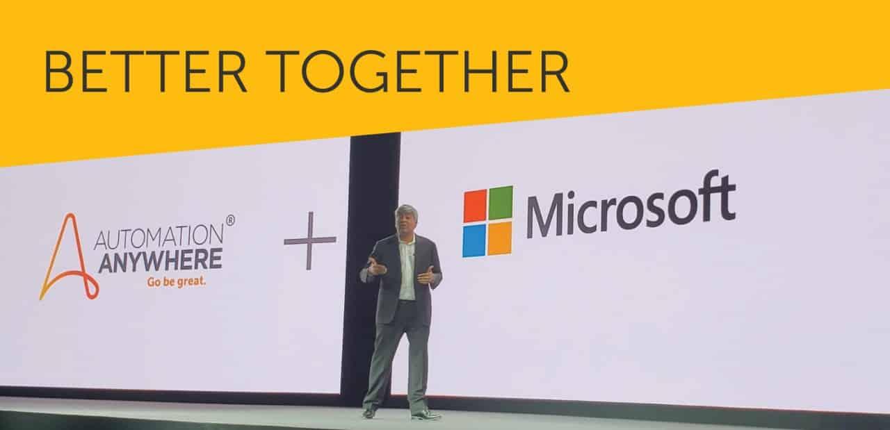 Automation Anywhere Microsoft