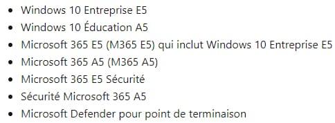 Microsoft Defender for Endpoint licences