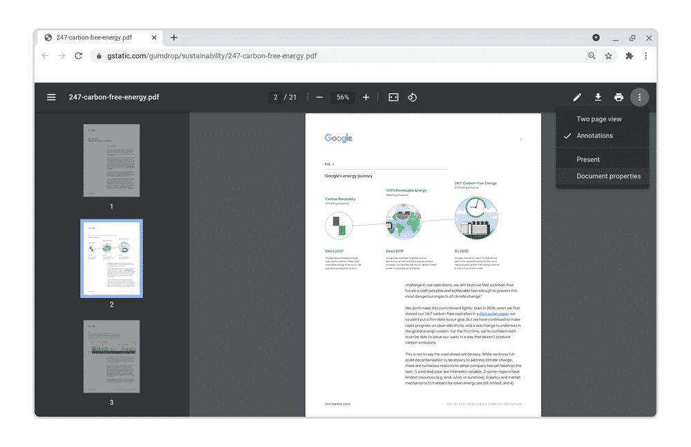 visionneuse PDF Chrome