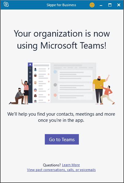 migration Skype Teams