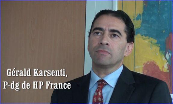 Vidéo, Gérald Karsenti, pdg de HP France