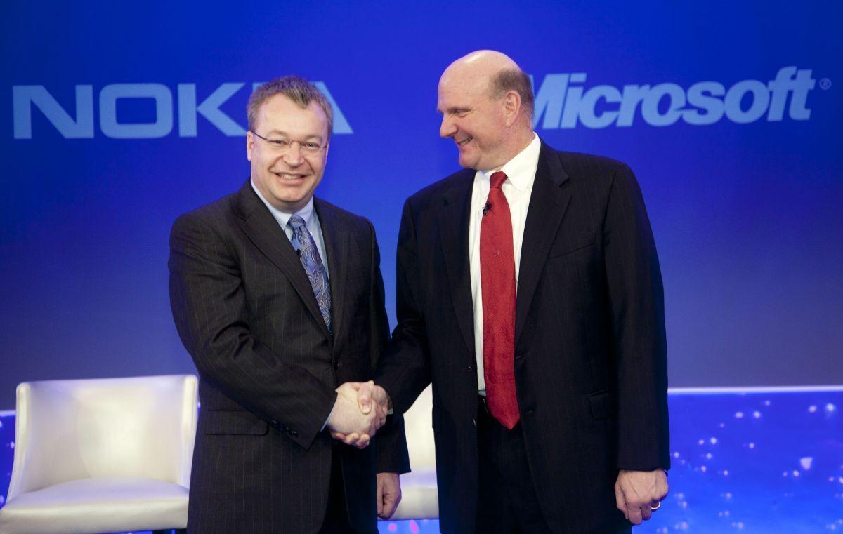Accord Nokia (Stephen Elop) Microsoft (Steve Ballmer)