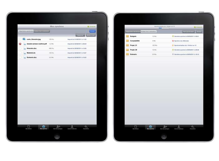 Oodrive Mobile iPad