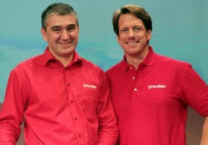 Parallels-Serguey Beloussov (Chairman) et Birger Steen (CEO)