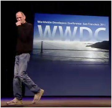 Steve Jobs ouvre la WWDC, juin 2011