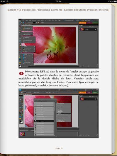 """""""Photoshop Elements, Spécial débutants"""", premier livre électronique français à intégrer de la vidéo"""