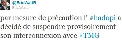 Hadopi ((Haute autorité pour la diffusion des oeuvres et la protection des droits sur l'Internet)