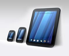 HP TouchPad et smartphone Pre3 et Veer