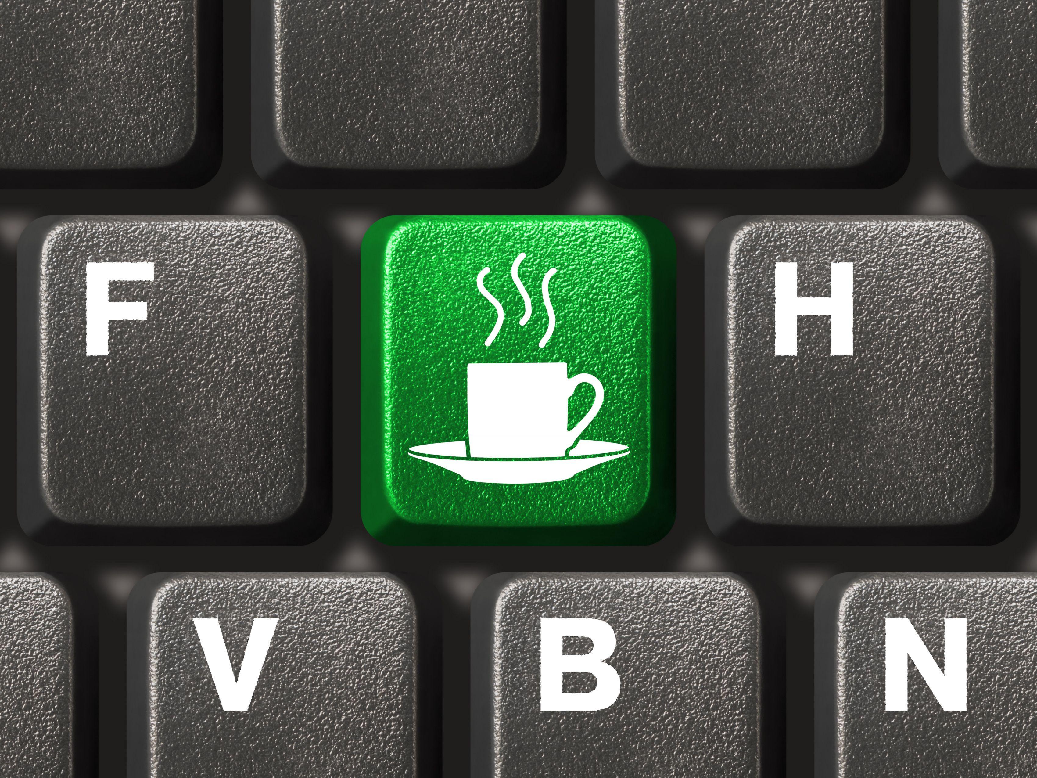 java, clavier, développeurs, pause café