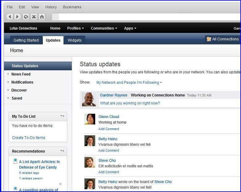 IBM Lotus Connections 3.0 réseaux sociaux