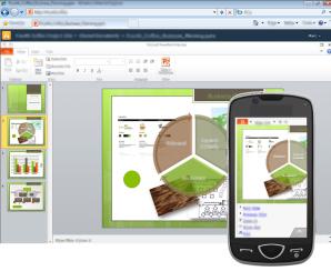 Les feuilles Excel d'Office Web Apps disponible sur les smartphone