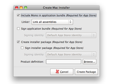 Mono Packager for OSX