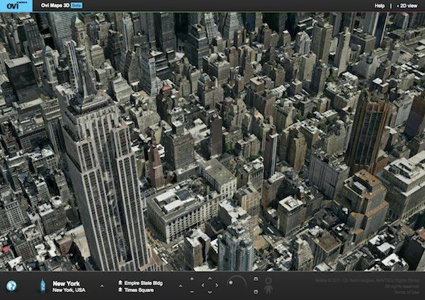 Nokia OVI Mpas 3D New York
