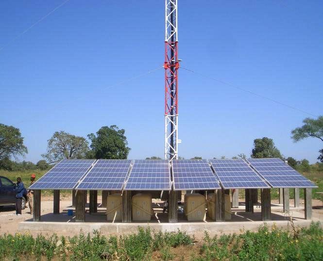 Centrale solaire pour alimenter une station de base mobile d'Orange