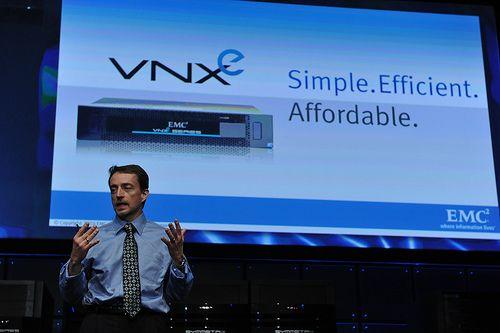 EMC, Pat Gelsinger, lancement VNXe