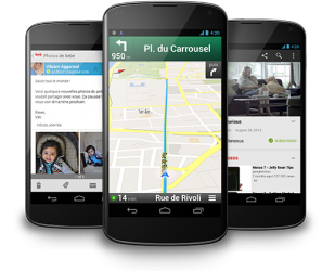 Google Nexus 4 avec Google Maps